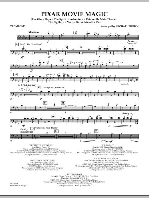 Pixar Movie Magic - Trombone 1 (Concert Band)
