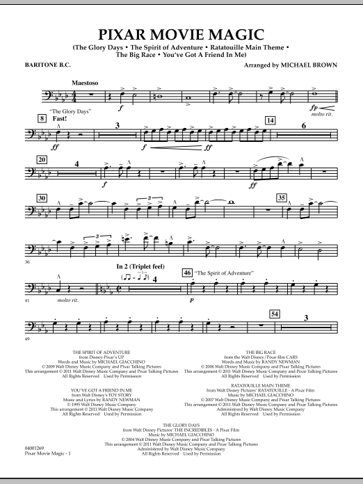 Pixar Movie Magic - Baritone B.C. (Concert Band)