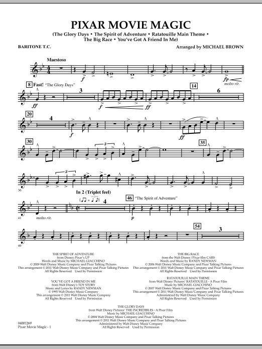 Pixar Movie Magic - Baritone T.C. (Concert Band)