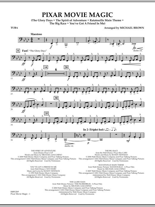 Pixar Movie Magic - Tuba (Concert Band)