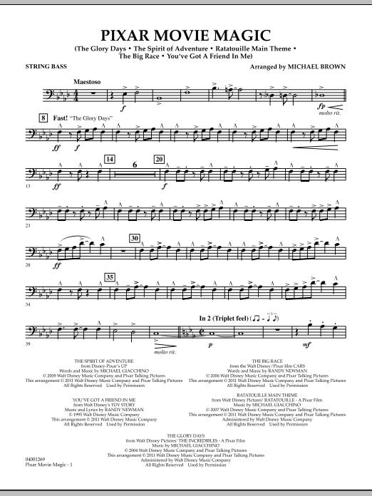 Pixar Movie Magic - String Bass (Concert Band)
