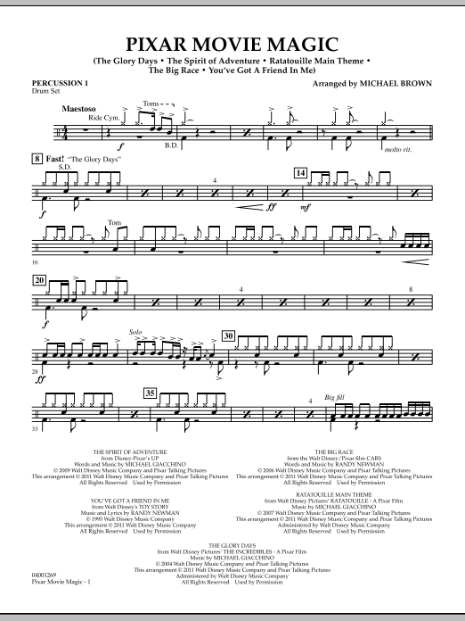 Pixar Movie Magic - Percussion 1 (Concert Band)