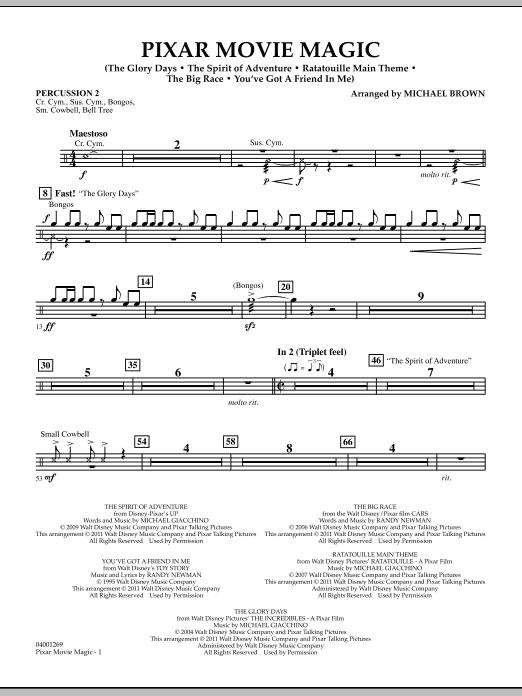 Pixar Movie Magic - Percussion 2 (Concert Band)