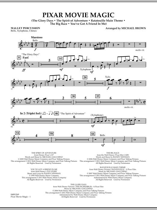 Pixar Movie Magic - Mallet Percussion (Concert Band)