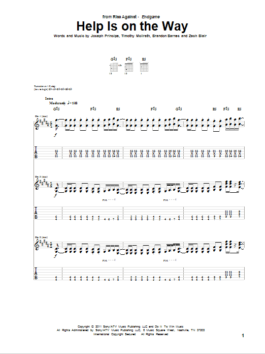 Help Is On The Way Sheet Music