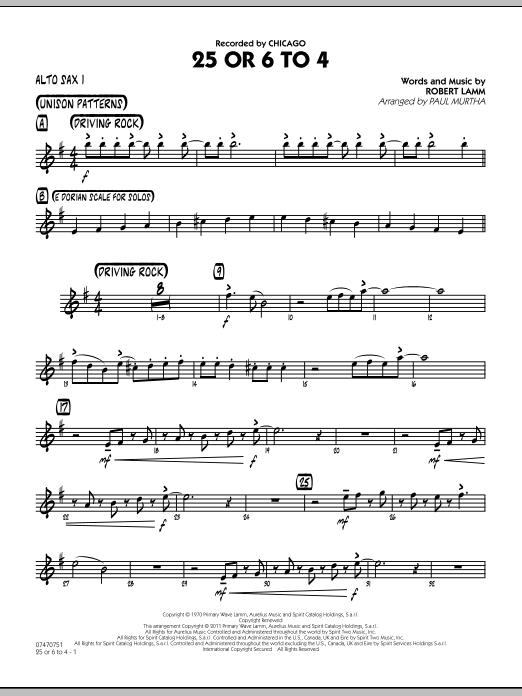 25 Or 6 To 4 - Alto Sax 1 (Jazz Ensemble)