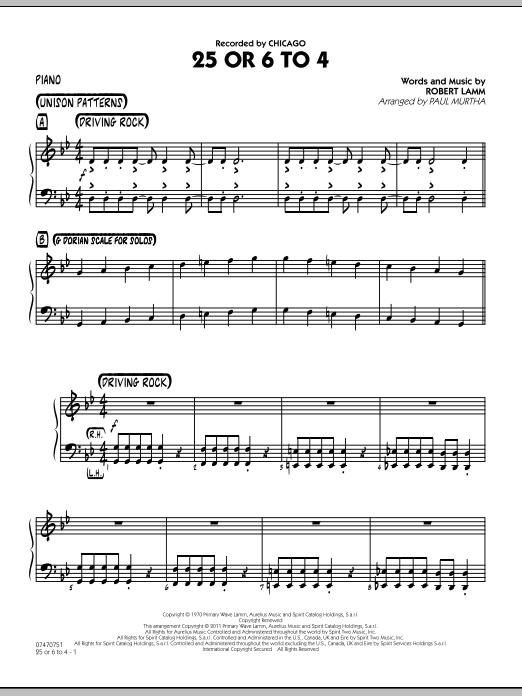 25 Or 6 To 4 - Piano (Jazz Ensemble)