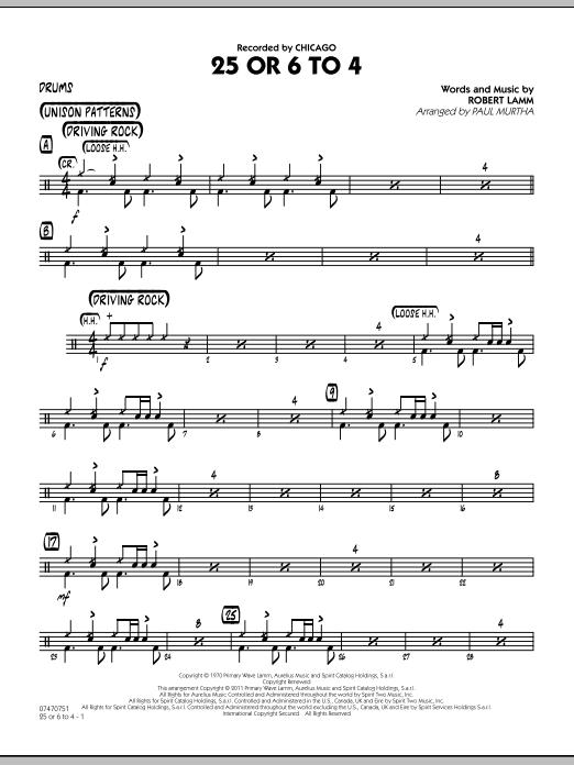 25 Or 6 To 4 - Drums (Jazz Ensemble)