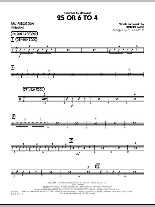 25 Or 6 To 4 - Aux Percussion (Jazz Ensemble)