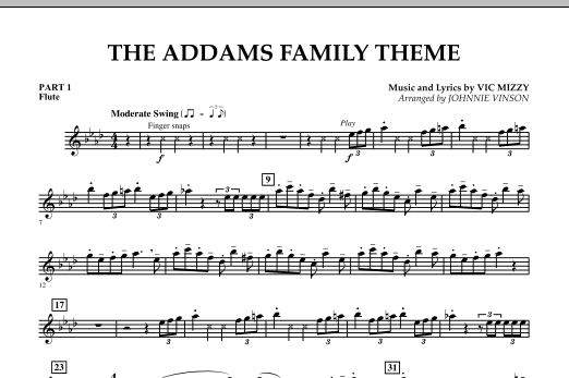 The Addams Family Theme - Pt.1 - Flute (Concert Band)