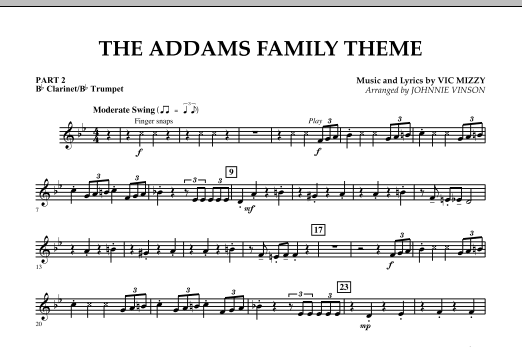 The Addams Family Theme - Pt.2 - Bb Clarinet/Bb Trumpet (Concert Band)