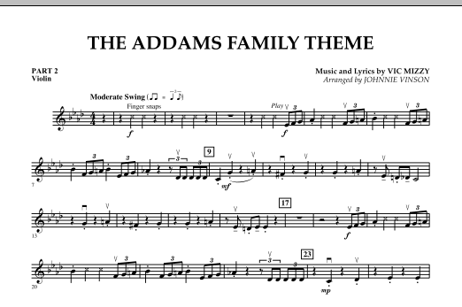 The Addams Family Theme - Pt.2 - Violin (Concert Band)