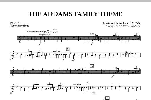 The Addams Family Theme - Pt.3 - Bb Tenor Saxophone (Concert Band)