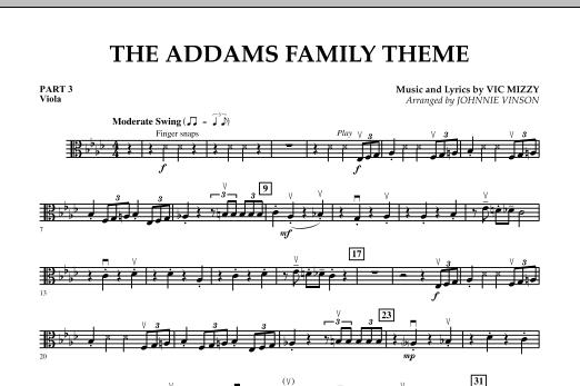 The Addams Family Theme - Pt.3 - Viola (Concert Band)