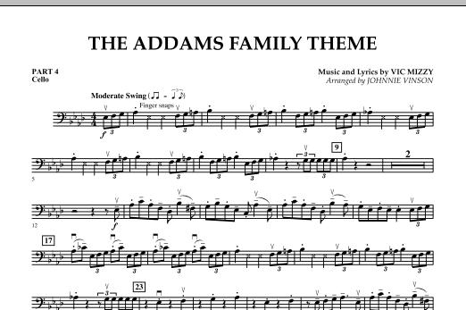 The Addams Family Theme - Pt.4 - Cello (Concert Band)