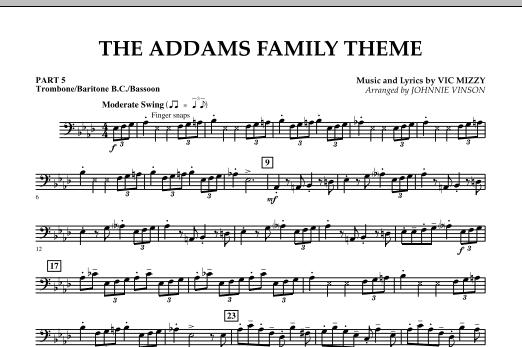 The Addams Family Theme - Pt.5 - Trombone/Bar. B.C./Bsn. (Concert Band)