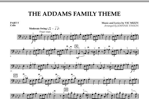 The Addams Family Theme - Pt.5 - Cello (Concert Band)