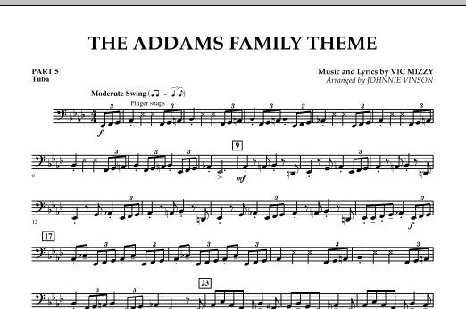 The Addams Family Theme - Pt.5 - Tuba (Concert Band)