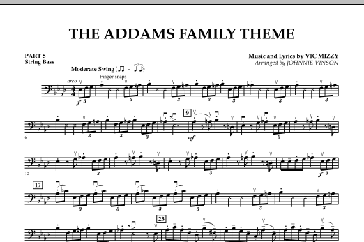 The Addams Family Theme - Pt.5 - String/Electric Bass (Concert Band)