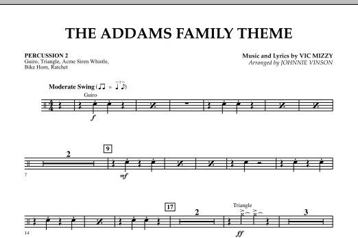 The Addams Family Theme - Percussion 2 (Concert Band)