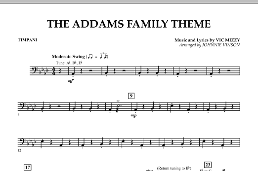 The Addams Family Theme - Timpani (Concert Band)