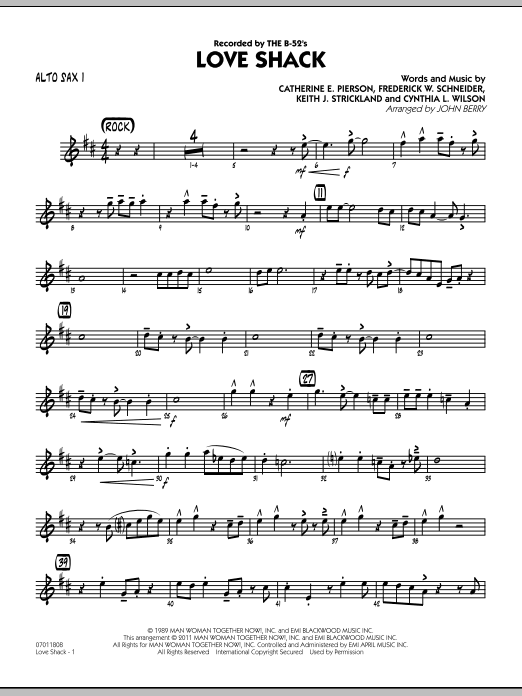 Love Shack - Alto Sax 1 (Jazz Ensemble)