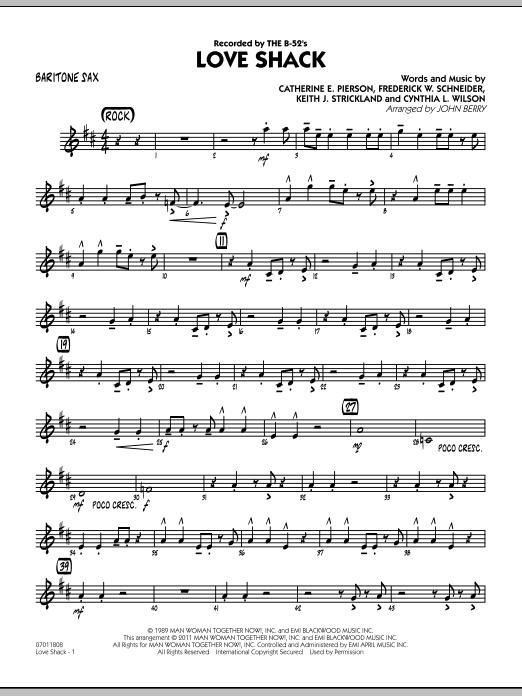 Love Shack - Baritone Sax (Jazz Ensemble)