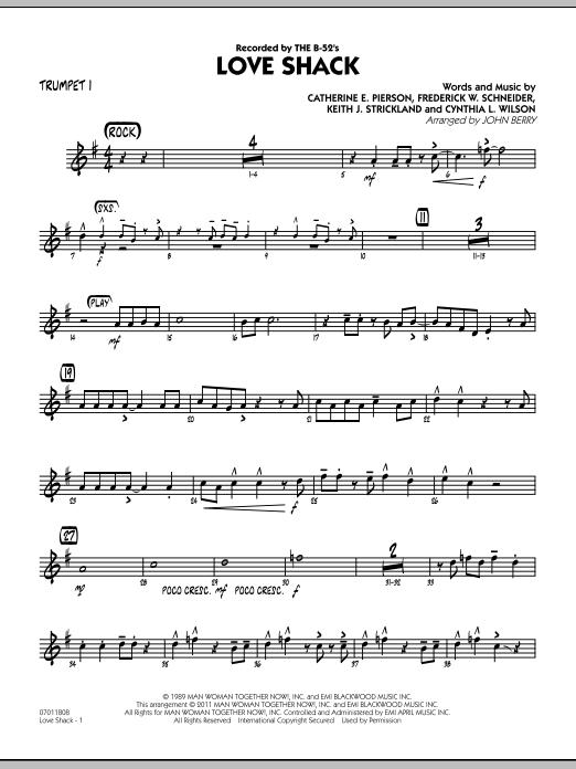 Love Shack - Trumpet 1 (Jazz Ensemble)