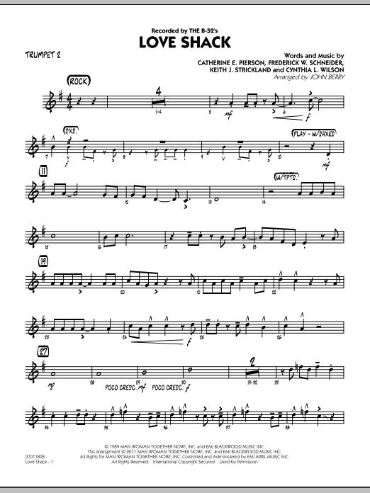 Love Shack - Trumpet 2 (Jazz Ensemble)