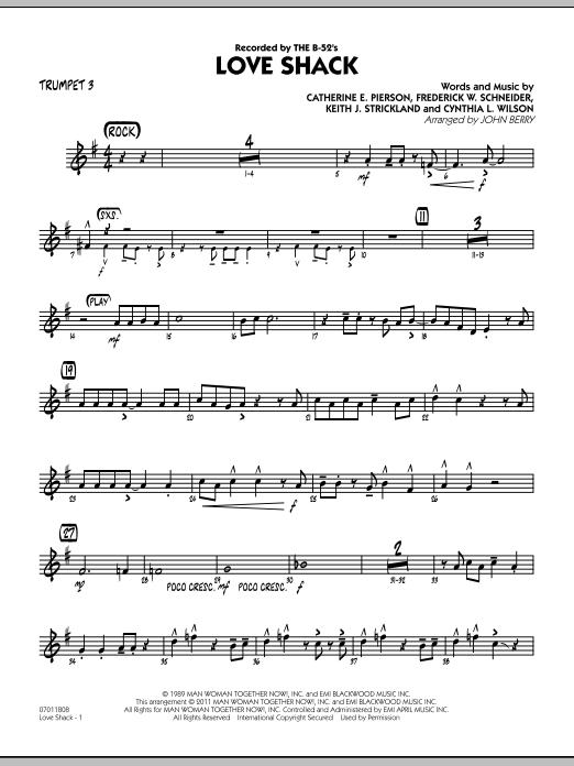 Love Shack - Trumpet 3 (Jazz Ensemble)