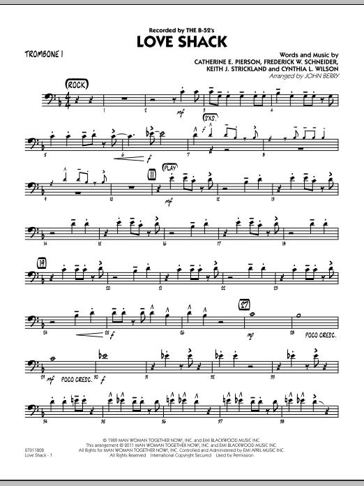 Love Shack - Trombone 1 (Jazz Ensemble)