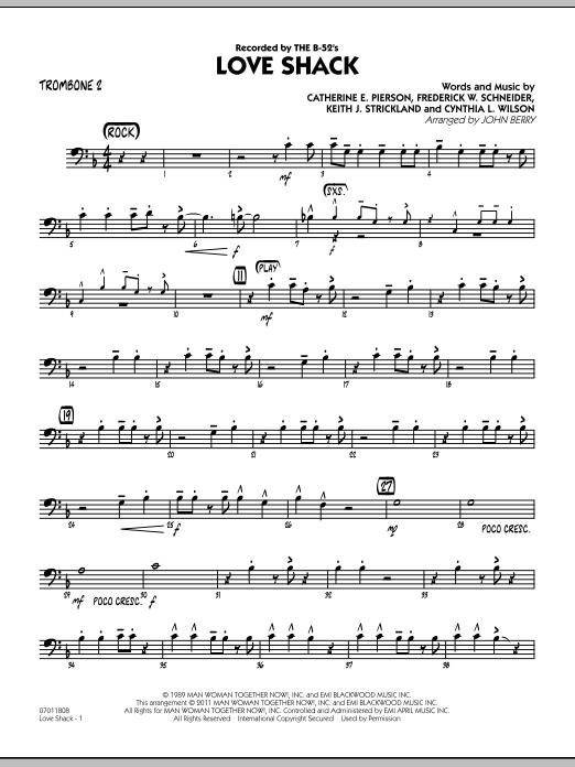 Love Shack - Trombone 2 (Jazz Ensemble)
