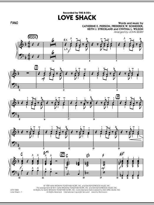 Love Shack - Piano (Jazz Ensemble)