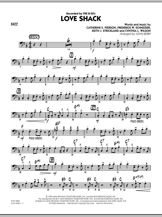 Love Shack - Bass (Jazz Ensemble)
