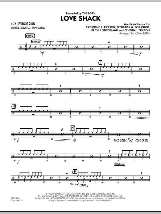 Love Shack - Aux Percussion (Jazz Ensemble)