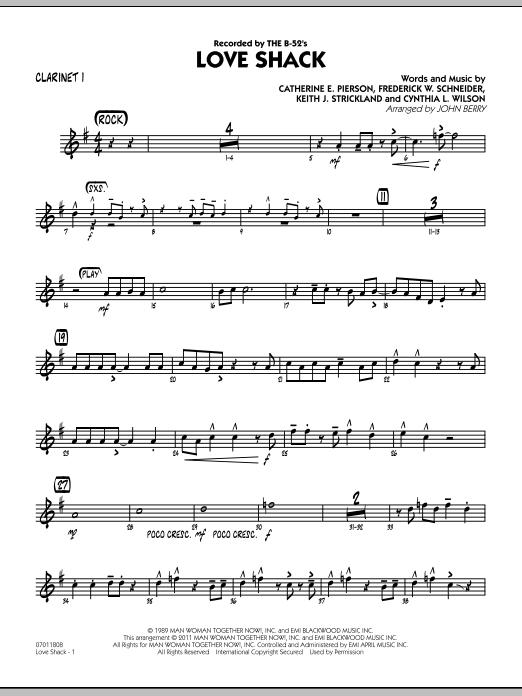 Love Shack - Bb Clarinet 1 (Jazz Ensemble)