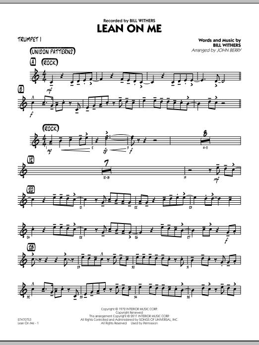 Lean On Me - Trumpet 1 (Jazz Ensemble)