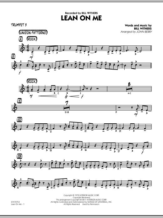 Lean On Me - Trumpet 3 (Jazz Ensemble)