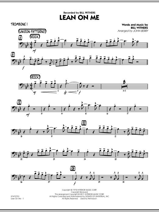 Lean On Me - Trombone 1 (Jazz Ensemble)