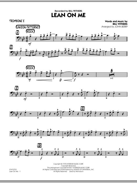 Lean On Me - Trombone 2 (Jazz Ensemble)