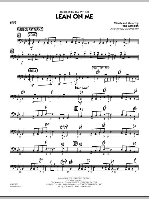 Lean On Me - Bass (Jazz Ensemble)