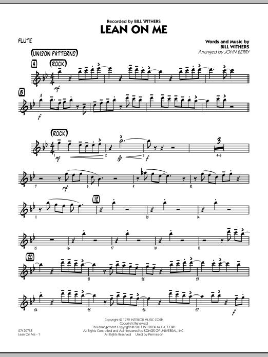 Lean On Me - Flute (Jazz Ensemble)