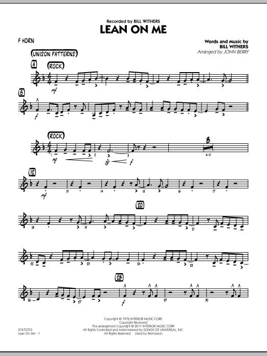 Lean On Me - F Horn (Jazz Ensemble)