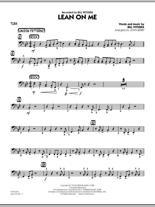Lean On Me - Tuba (Jazz Ensemble)