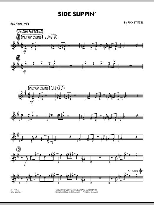 Side Slippin' - Baritone Sax (Jazz Ensemble)