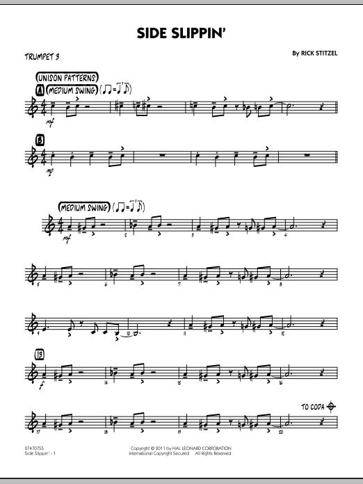 Side Slippin' - Trumpet 3 (Jazz Ensemble)