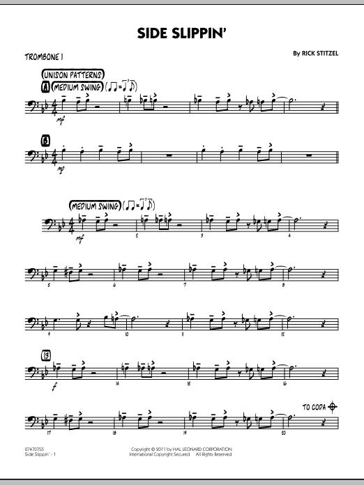 Side Slippin' - Trombone 1 (Jazz Ensemble)