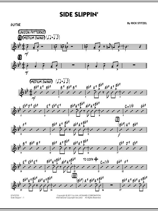 Side Slippin' - Guitar (Jazz Ensemble)