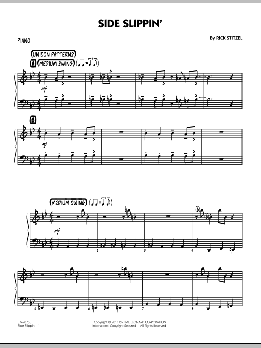 Side Slippin' - Piano (Jazz Ensemble)