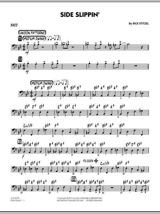Side Slippin' - Bass (Jazz Ensemble)